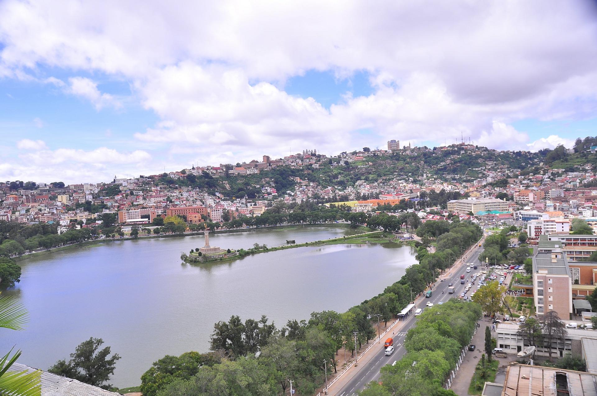 Vue panoramique sur Antananarivo à Madagascar