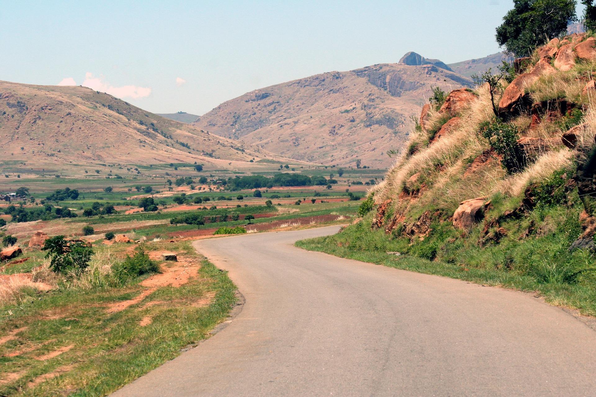 Descente de la RN7 à Madagascar