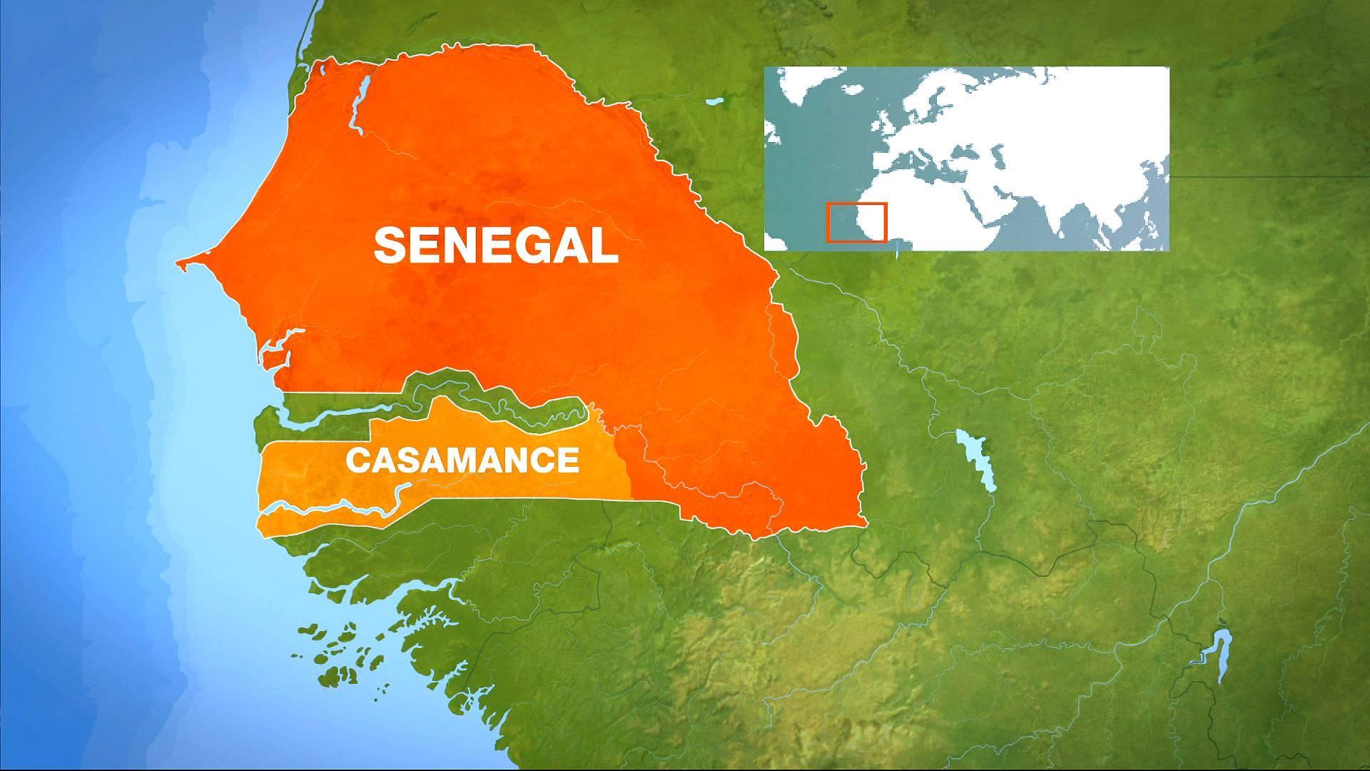 carte HD du Sénégal